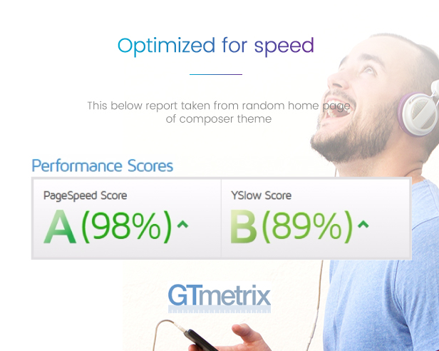 Composer Wp Theme Optimized for best performance